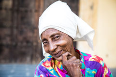 Portrait of a cute cuban woman and looking at the camera Stock Photo