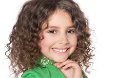 Curly little girl Stock Photo