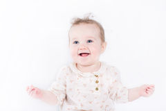 Portrait of a cute and elegant baby girl Royalty Free Stock Images