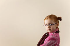 Portrait of cute elegant redhead girl Stock Photography