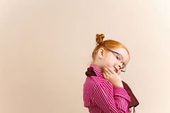 Portrait of cute elegant redhead girl Royalty Free Stock Photography