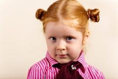 Portrait of cute elegant redhead girl Royalty Free Stock Photos