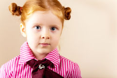 Portrait of cute elegant redhead girl Stock Photo