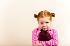 Portrait of cute elegant redhead girl Royalty Free Stock Image