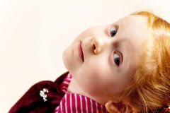 Portrait of cute elegant redhead girl Royalty Free Stock Photo
