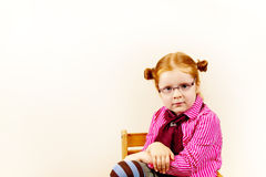 Portrait of cute elegant redhead girl Royalty Free Stock Images