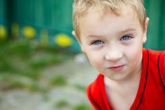 Portrait of cute expressive funny boy Royalty Free Stock Photo