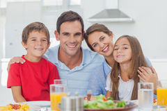 Portrait of a cute family stock image
