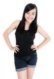 Portrait of cute girl fashion model posing Stock Photo