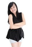 Portrait of cute girl fashion model posing Stock Image