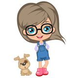 Portrait of a cute girl in glasses Royalty Free Stock Photos