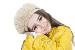 Portrait of cute girl looking in camera Stock Images