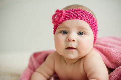 Girl in Pink Fillet Stock Photo
