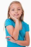 Portrait of a cute girl posing Stock Photos