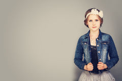 Portrait of a Cute Girl Posing Royalty Free Stock Photos