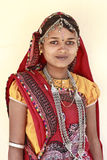 Portrait of a cute girl from Rajasthan, India Royalty Free Stock Images