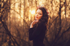 Portrait of a cute girl royalty free stock photography
