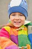 Portrait of cute happy little boy stock photography
