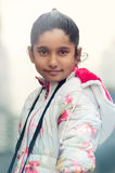 Portrait of Cute Indian Girl wearing Jacket Royalty Free Stock Image