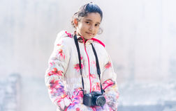 Portrait of Cute Indian Girl wearing Jacket Royalty Free Stock Images