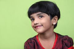 Portrait of Cute Indian little girl Stock Image