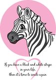 Portrait of a cute joyful zebra vector illustration