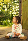 portrait of Cute kid having fun at countryside Royalty Free Stock Photo