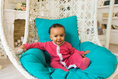 Portrait of a cute little African American boy smiling Royalty Free Stock Images