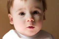 Portrait of cute little baby Stock Photo
