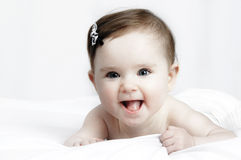 Portrait of a cute little baby royalty free stock photos
