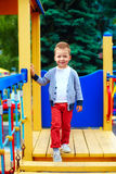 Portrait of cute little baby boy on playground Royalty Free Stock Photo