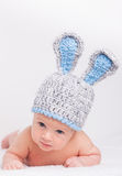 little baby in a funny hat Stock Photography