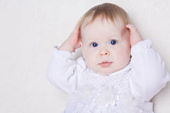 Portrait of cute little baby girl Stock Image