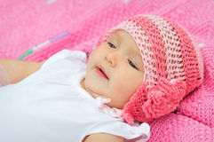 Portrait of a cute little baby girl Royalty Free Stock Photography