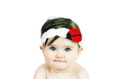 Portrait of a cute little baby Stock Photos