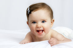 Portrait of a cute little baby stock photography