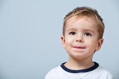 Portrait of cute little boy Stock Photos