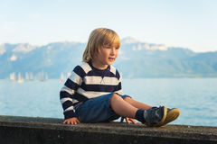 Portrait of a cute little boy Stock Photography