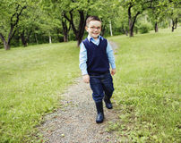 Portrait of cute little boy child outdoors on the Royalty Free Stock Photos