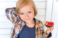 Portrait of a cute little boy Stock Images
