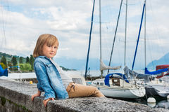 Portrait of a cute little boy Stock Image