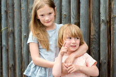 Portrait of a cute little boy and girl Royalty Free Stock Image