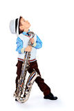 Young musician Stock Images