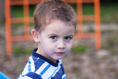 Portrait of of a cute little boy Stock Images