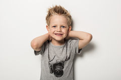 Portrait of cute little boy posing Royalty Free Stock Image