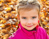 Portrait of cute little caucasian girl Royalty Free Stock Photo