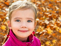 Portrait of cute little caucasian girl Stock Image