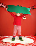 Portrait of cute little elf Royalty Free Stock Images