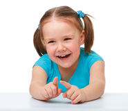 Portrait of a cute little girl Royalty Free Stock Photography