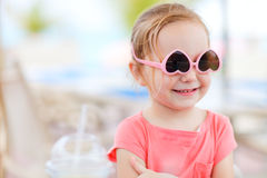 Portrait of cute little girl Stock Photo